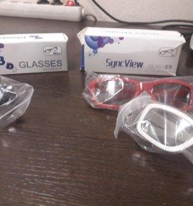 Продам 3D очки для телевизора днс