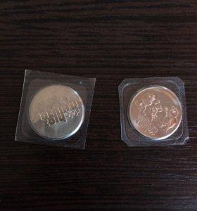 Монеты олимпийские номинал 25  рублей