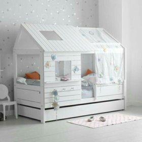 Детская кроватка-домик с зашитой крышей🌛