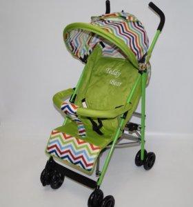 Детская коляска прогулочная зеленая новая