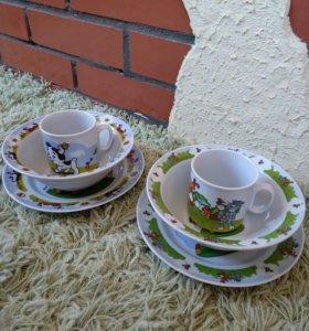 Набор фарфоровой детской посуды