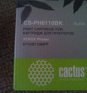 Картридж лазерный Cactus CS-PH6110BK