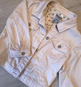 Джинсовая куртка укороченная