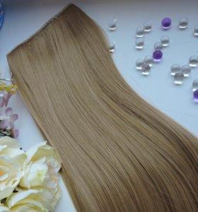Термо волосы на заколках /клипсах 60 см.