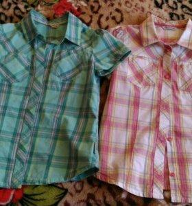 2 рубашки для девочки.