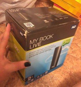 Внешний жёсткий диск WD My Book Live черный