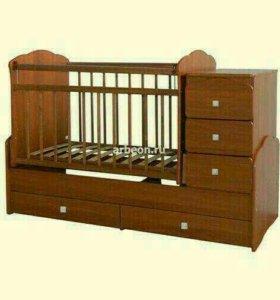 Кровать детская трасформер