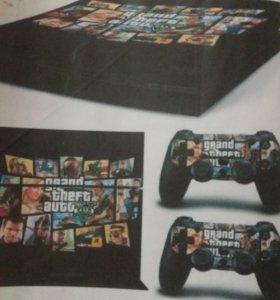 Наклейки виниловые на PS4