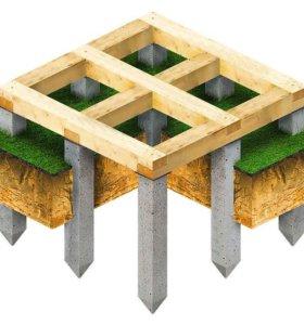 Фундамент на забивных жб сваях для частного дома