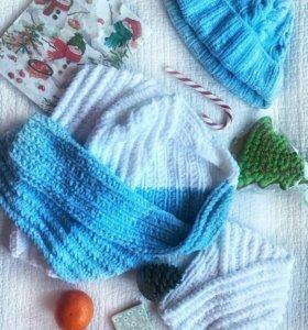 Комплект шарф и две шапки