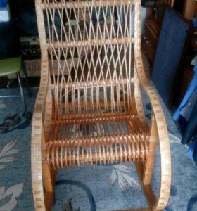 Кресло качалка плетёное