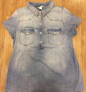 Джинсовая рубашка для беременных