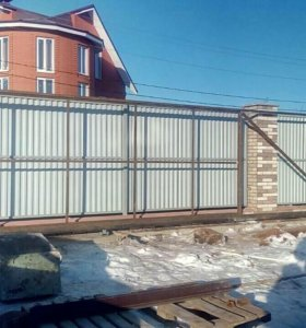 Откатные ворота,заборы,калитки,навесы и т.д