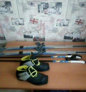 Лыжи с новыми ботинками