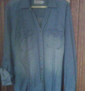 Рубашка джинс.Женская