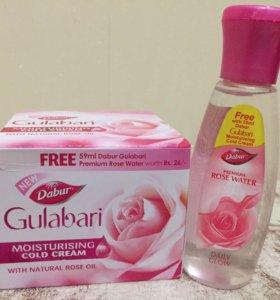 Увлажняющий крем «Роза» и розовая вода