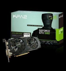 Видеокарта KFA2 GeForce GTX 1060 EX OC 6 Gb
