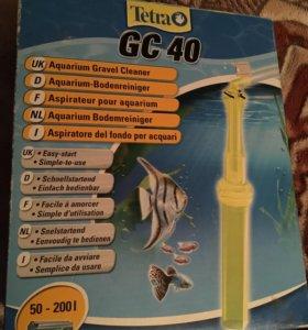 Сифон tetra GC 40 для аквариума/камни/аксессуары