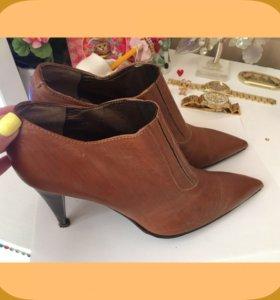 Ботинки кожа натуральная женская обувь 38 размер