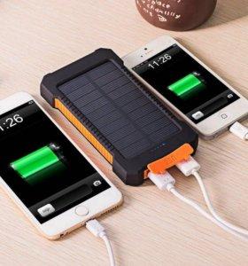 Power Bank 20000mAh солн.батарея+фонарь+компас