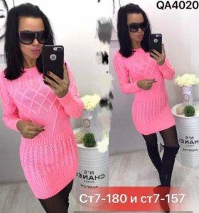 Новая туника вязаное платье свитер женский