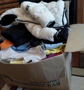 Коробка вещей + демисезонный костюм