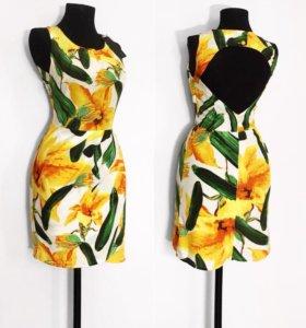 Новое шёлковое платье с этикеткой