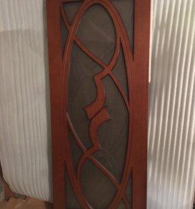 Дверь «Фаберже», шпон, стекло, 800 мм