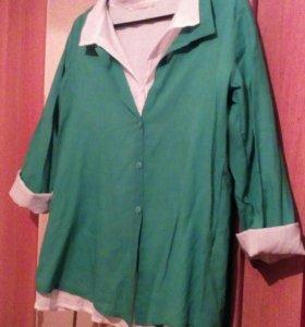 Рубашка женская 2в1