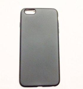 Чехол для iphone 6 plus / 6s Plus Матовый чёрный