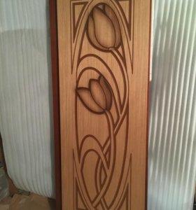 Дверь «Тюльпан», шпон, 700 мм