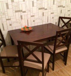 Стол и 4 стула! Новые