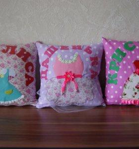 Именная декоративная подушка.
