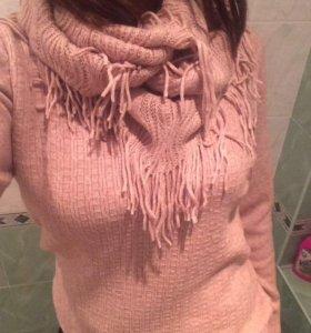 Новый комплект кофта+шарф