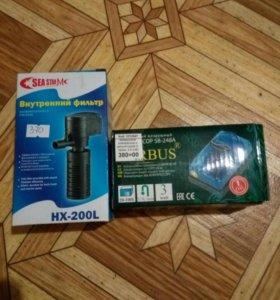 Фильтр и компрессор для аквариума
