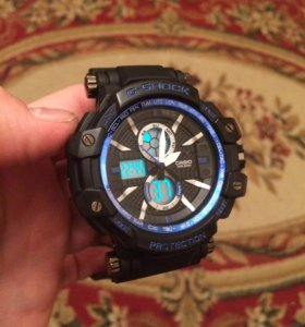 Часы G-Shock новые синего цвета