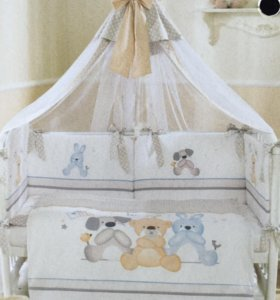 Балдахин для детской кроватки с держателем. Новое.