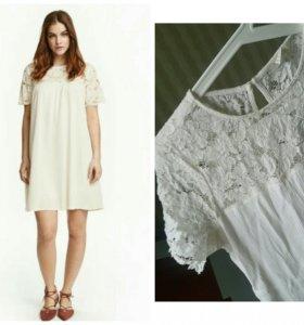Платье нм белое кружево