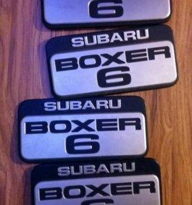 Шильдик SUBARU BOXER 6