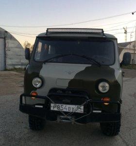 Подготовленный УАЗ 3909 для охоты и рыбалки