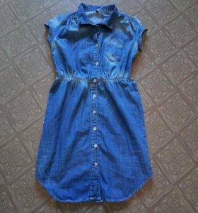 Очень красивое джинсовое платье 40(xs)