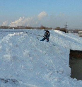 Уборка снега с крыш  Очистка кровли от снега