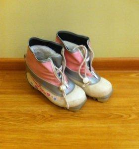 Ботинки лыжные, б/у