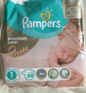 Памперсы pampers premium care 1