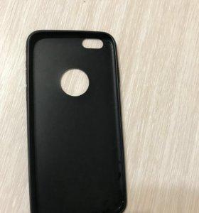 Продаю чехол на айфон 6s чёрный матовый