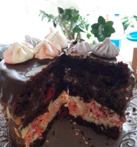 Торт с домашним безе