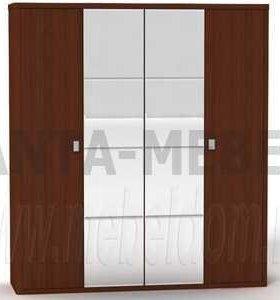Шкаф 4хдверный с зеркалом