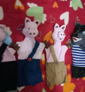 "Куклы-перчатки для спектакля ""Три поросенка"""