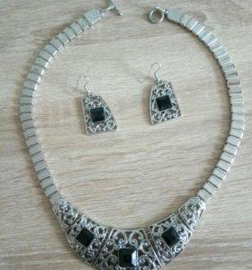Комплект(ожерелье+серьги)