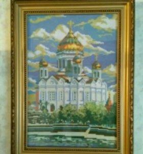 """Вышивка """"Храм Христа Спасителя"""""""